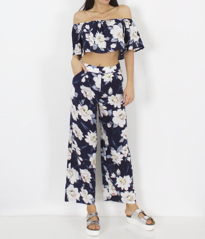High Waisted Floral Pant