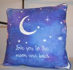 I Love You To The Moon And Back Pillow