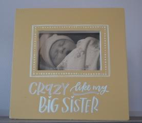 Crazy Like My Big Sister Box Sign