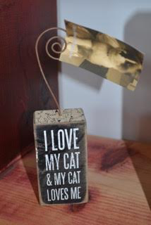 I Love My Cat and My Cat Loves Me Box Sign