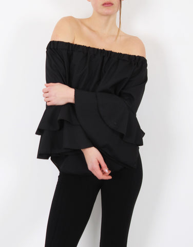 OFF THE SHOULDER RUFFLE SLEEVES TOP