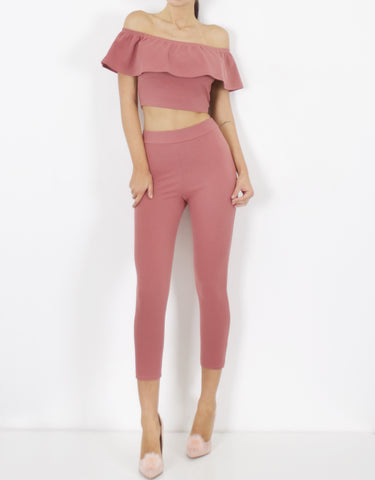 DUSTY PINK HIGH WAISTED PANT