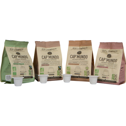 Cap'Mundo Paris Organic and Compostable Espresso Capsules for Nespresso® Original Line Machines