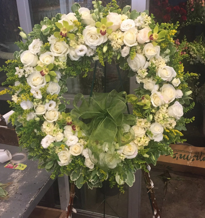 Traditional White Sympathy Wreath