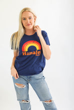 Load image into Gallery viewer, WW NAVY HANALEI RAINBOW WOMANS TEE