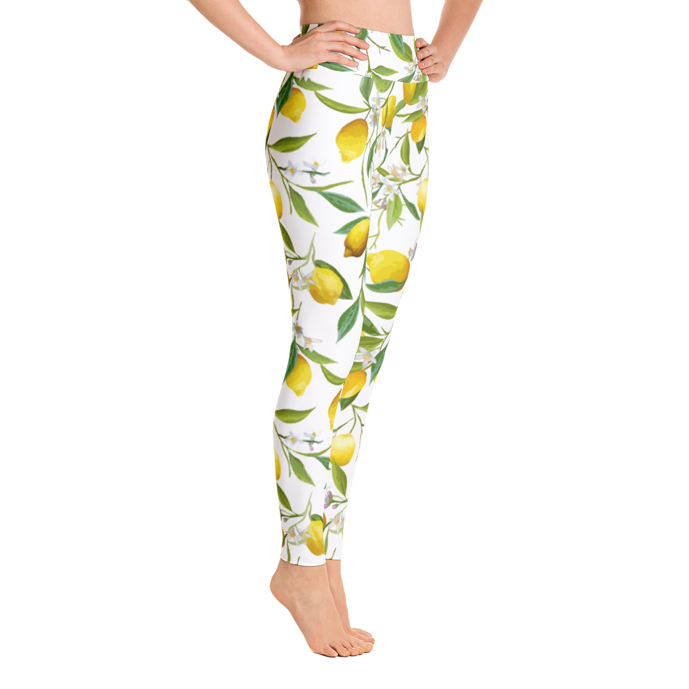 "Look stylish when exercising - The ""Wild"" Lemon Leggings"