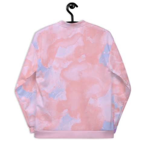 Pink Watercolor Bomber Jacket