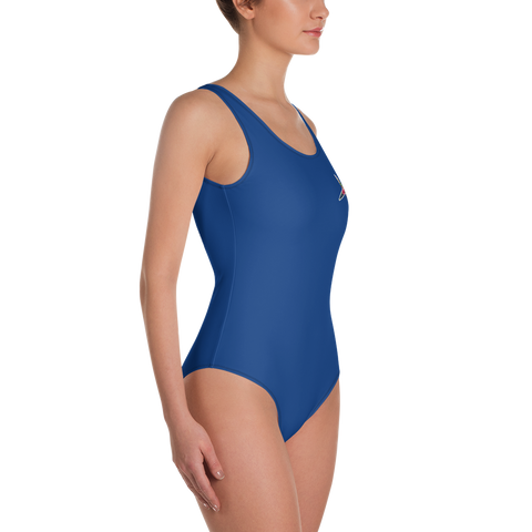 Navy Blue One-Piece Swimsuit