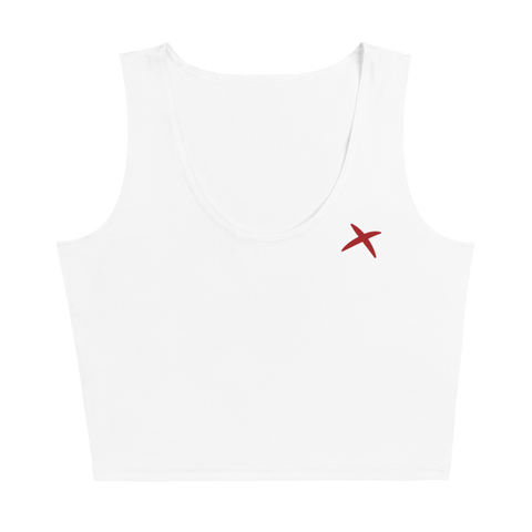 4-way stretch Athletic Crop Top - White