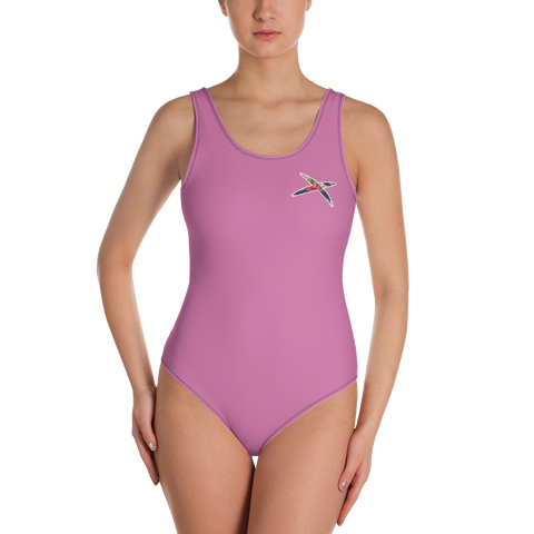 Pink Floral One-Piece Swimsuit