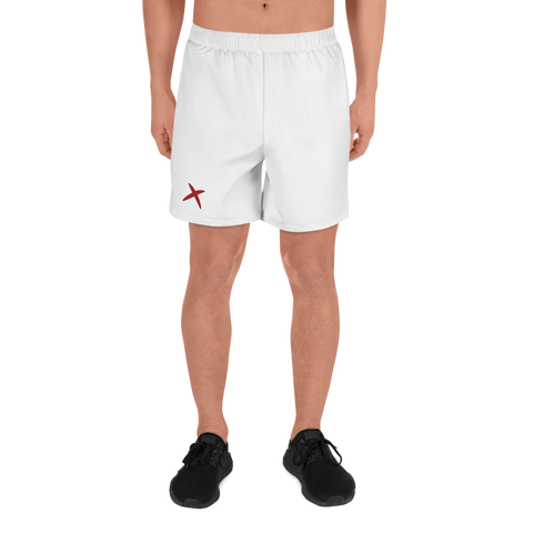 MaxDri Athletic Shorts - White