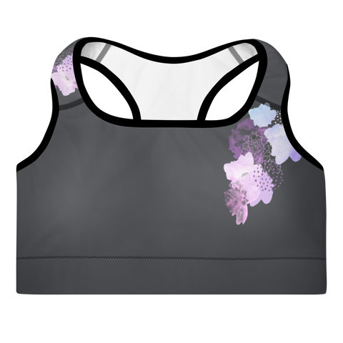 Patty's Flowers Sports Bra