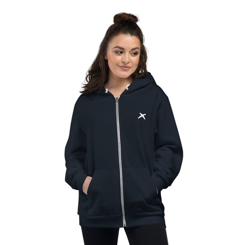 Cross Fleece Zip Hoodie