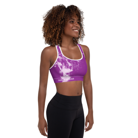 Purple Smoke Sports Bra