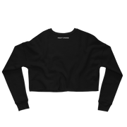 Fleece Crop Sweatshirt - Black