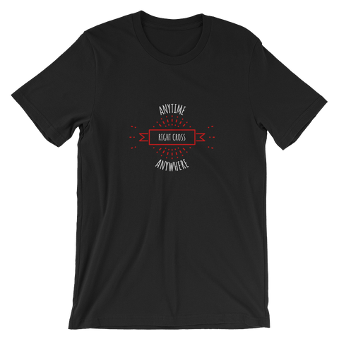 """Anytime, Anywhere"" - Lighweight Black T-Shirt"