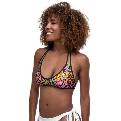 Colored Leo Light Bikini Top