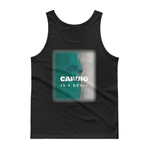 """Cardio is a Beach"" Tank top - Black"
