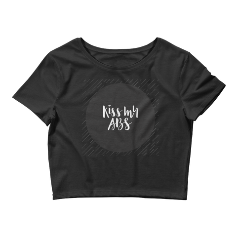 """Kiss my Abs"" - Crop Tee"