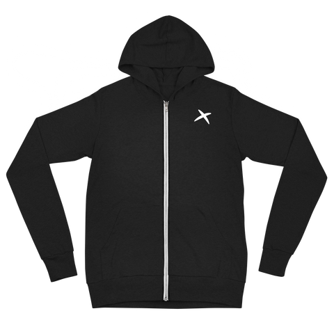 Athletic Zip Hoodie - Black