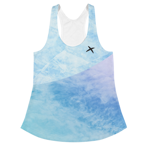 Ice and Sky Racerback Tank