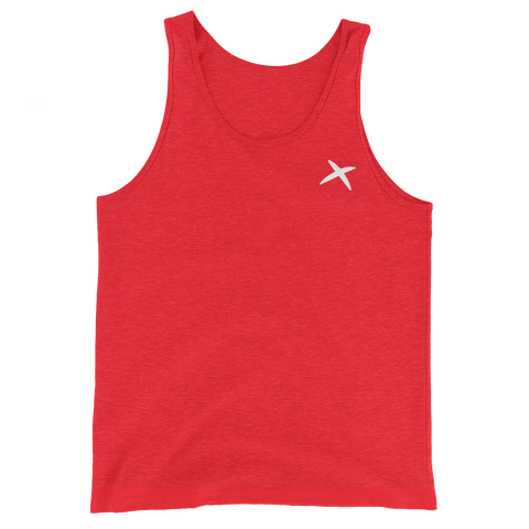 Cross-Athletic Tank Top - Red Triblend