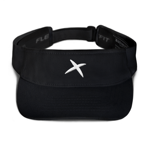 FlexFit Visor - Black (3D embroidery)