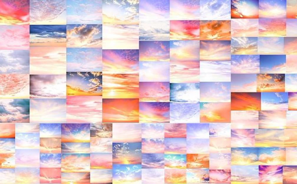 "Digital Sky Overlay ""Rise & Shine"" Collection includes over 150 beautiful sky overlays"