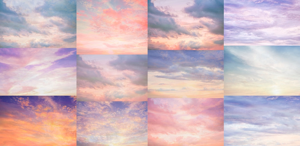 Multi Sky Overlay Set 2 - Includes 12 Sky Overlays