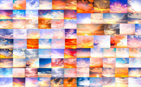 "Digital Sky Overlay ""Sunrise"" Collection includes over 150 beautiful sky overlays"