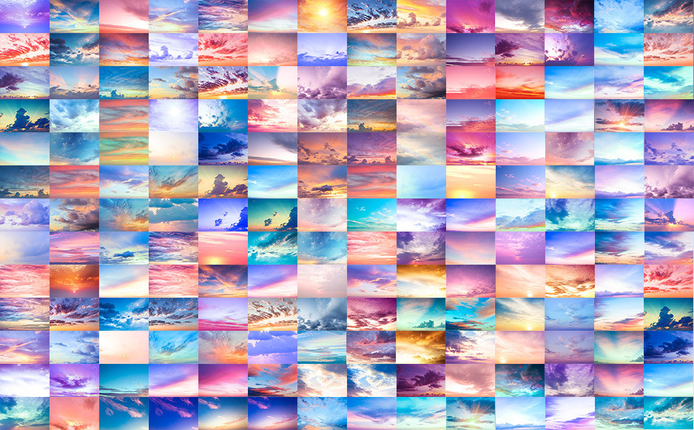 Digital Sky Overlay Collection II - Includes 176 beautiful sky overlays - Modern Market