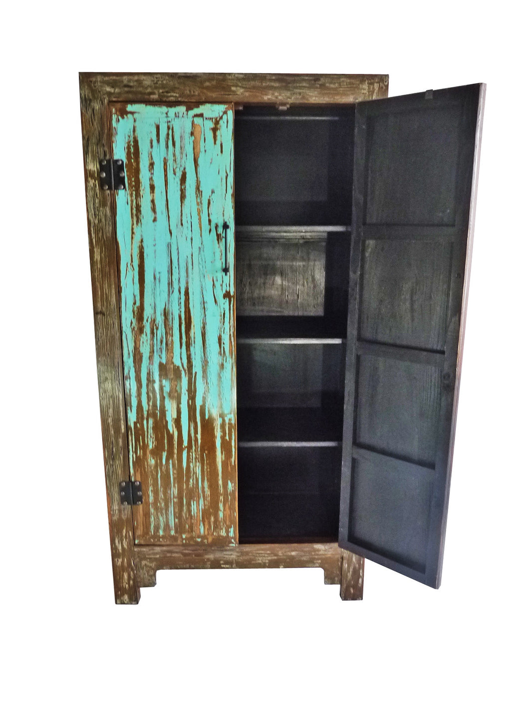 Distressed Wood Large Cabinet