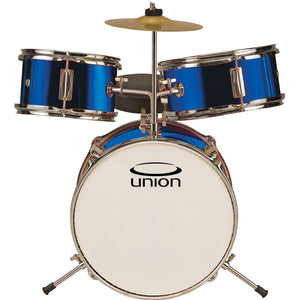 Union UT3 3-Piece Toy Drum Set with Cymbal and Throne, Metallic Dark Blue