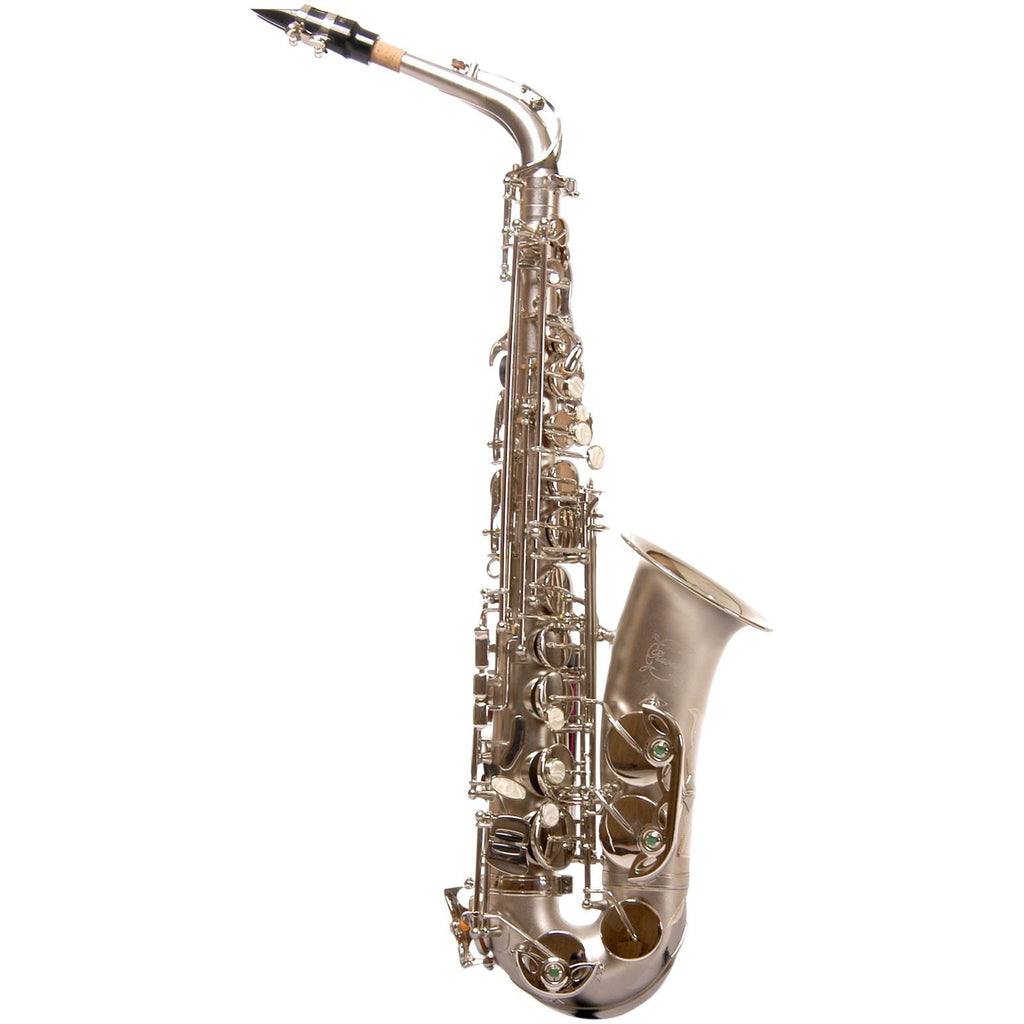 Ravel Alto Saxophone - Sand Blasted Nickel Plated - Key of Eb