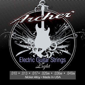 Archer Nickel Electric Guitar Strings, Light .010 - .046w