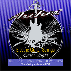 Archer Nickel Electric Guitar Strings, Extra Light .009 - .042w