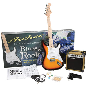 Archer SS10 Blues & Rock Jr. Electric Guitar Package - Sunburst