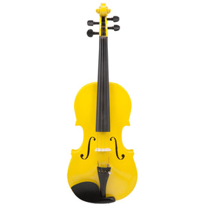 le'Var 4/4 Student Violin Outfit - Mellow Yellow