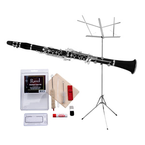 Ravel - Ravel RCL102 Clarinet Value-Pack - Includes Music Stand and Care Kit