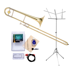 Ravel - RTB102 Student Bb Tenor Trombone Value-Pack - Includes Music Stand and Care Kit