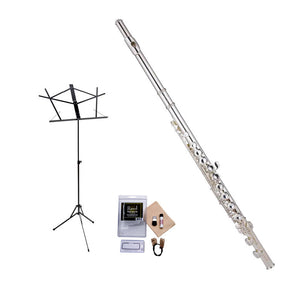 Ravel by Gemeinhardt 202SP Flute Value-Pack - Includes Ravel Music Stand and Care Kit