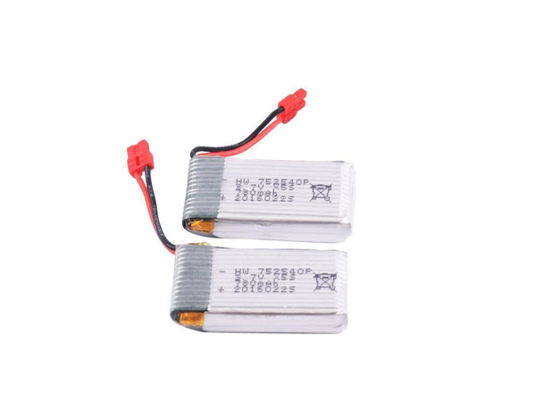 YouCute 2pcs 3.7V 780mAh Battery for syma X5hc X5hw RC quadcopter drone spare parts - DroneLand