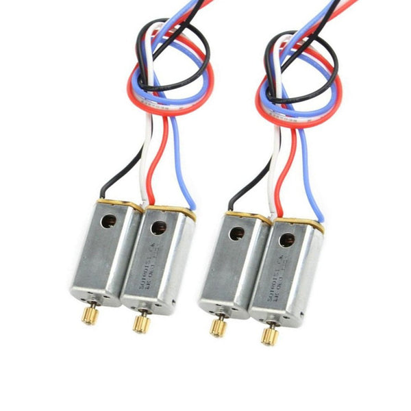 4pcs Original Motors with Gear for MJX X101 Spare Part Clockwise Motor and Anti-clockwise Motor A B - DroneLand