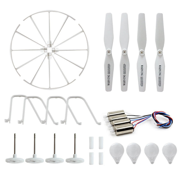 BTG Motor Parts for Syma X5UC X5UW RC Quadcopter- Spare Parts: 4 Motors; 4 Gear Sets; 4 Propellers, 4 Protection frames, 4 Landing Gears - DroneLand