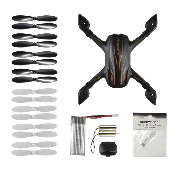 HOBBYTIGER Hubsan X4 H107P Drone Quadcopter Crash Pack Replace Spare Parts Propeller Prop Battery Motor Body Shell - DroneLand