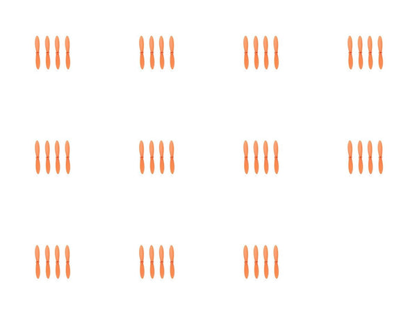 11 x Quantity of Estes Proto X SLT Nano All Orange Nano Quadcopter Propeller blade Set 32mm Propellers Blades Props Quad Drone parts - FAST FREE SHIPPING FROM Orlando, Florida USA! - DroneLand