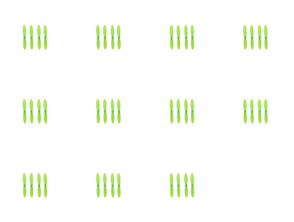 11 x Quantity of Estes Proto X SLT Nano All Green Nano Quadcopter Propeller blade Set 32mm Propellers Blades Props Quad Drone parts - FAST FREE SHIPPING FROM Orlando, Florida USA! - DroneLand