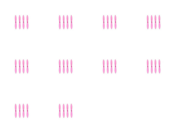 10 x Quantity of Estes Proto X SLT Nano All Pink Nano Quadcopter Propeller blade Set 32mm Propellers Blades Props Quad Drone parts - FAST FROM Orlando, Florida USA! - DroneLand