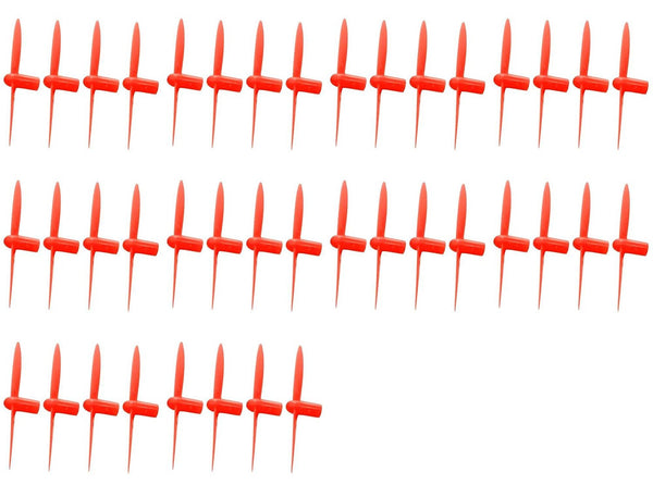 10 x Quantity of Estes Proto-X All Red Nano Quadcopter Propeller blade Set 32mm Propellers Blades Props Quad Drone parts - FAST FROM Orlando, Florida USA! - DroneLand