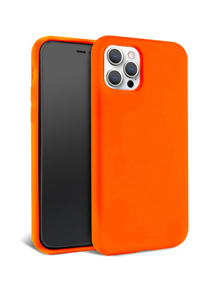Neon Orange Silicone iPhone Case